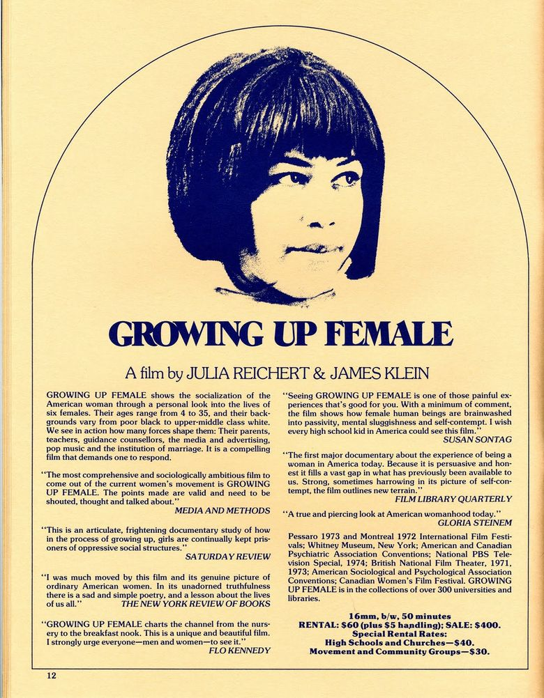 Growing Up Female Poster