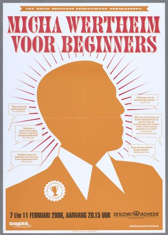Micha Wertheim: Voor Beginners Poster