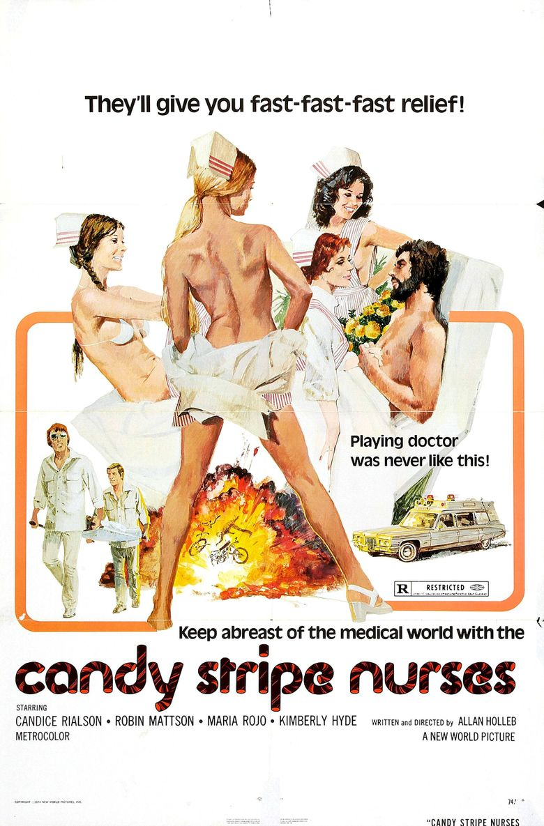 Candy Stripe Nurses Poster