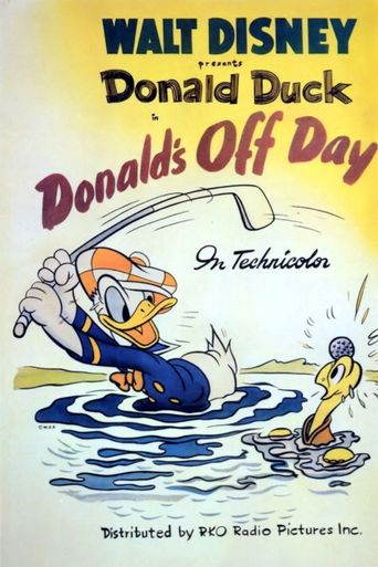 Donald's Off Day Poster