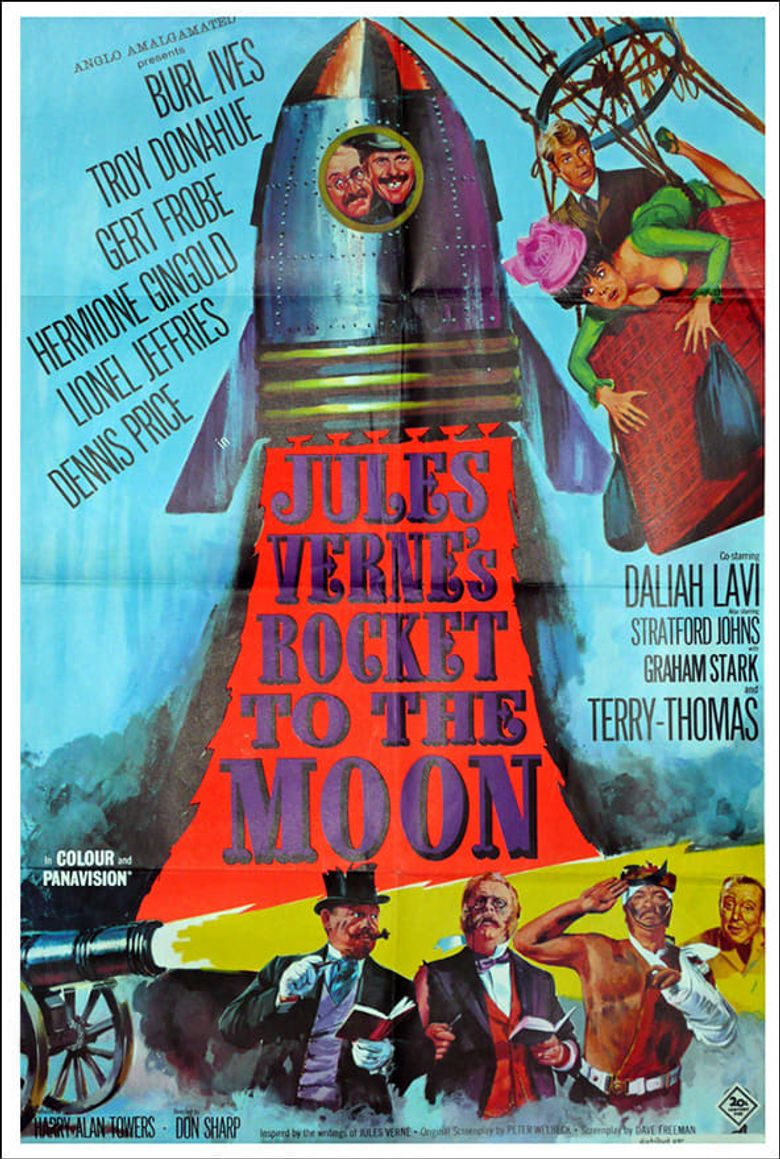 Jules Verne's Rocket to the Moon Poster