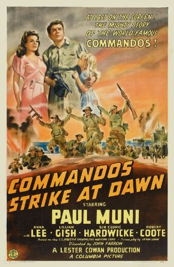 Commandos Strike at Dawn Poster