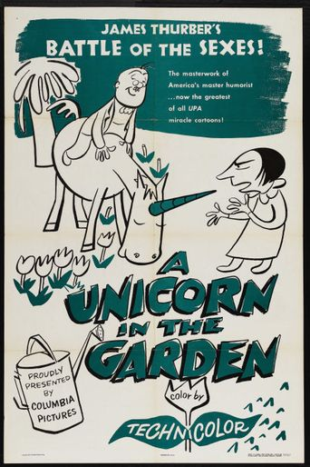The Unicorn in the Garden Poster