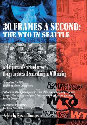 30 Frames a Second: The WTO in Seattle Poster