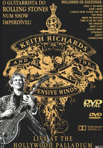Keith Richards And The X-Pensive Winos: Live At The Hollywood Palladium December 15, 1988 Poster