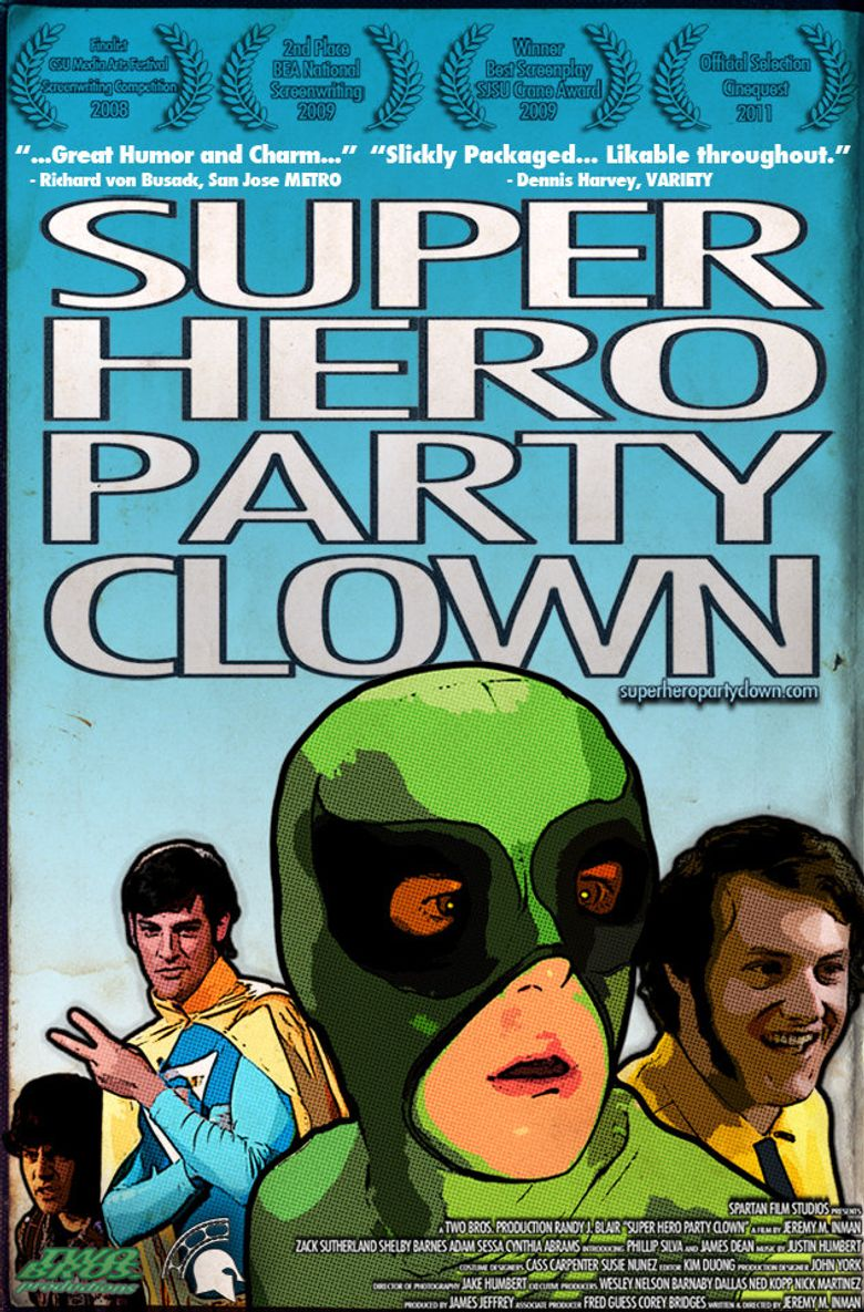 Super Hero Party Clown Poster