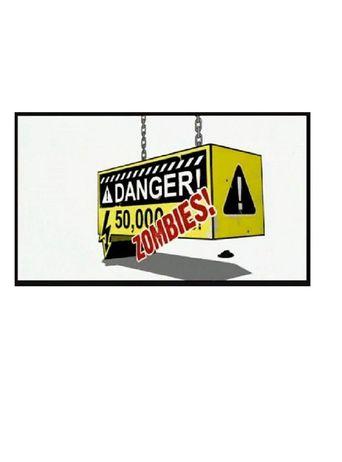 Danger! 50,000 Zombies Poster