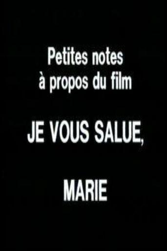 Petites notes à propos du film 'Je vous salue, Marie' Poster