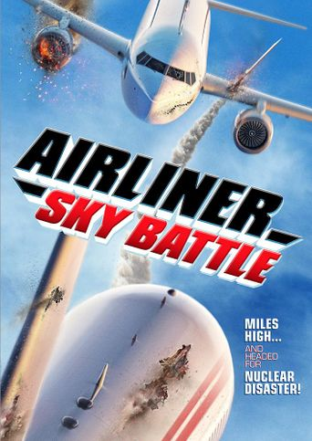 Airliner Sky Battle Poster