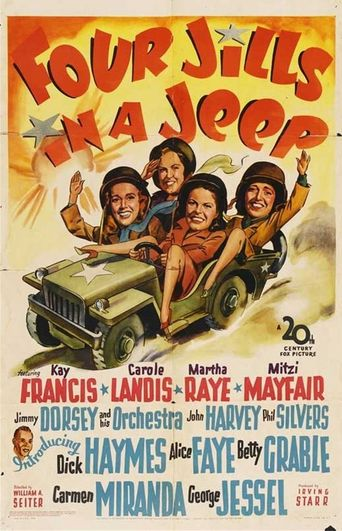 Four Jills in a Jeep Poster