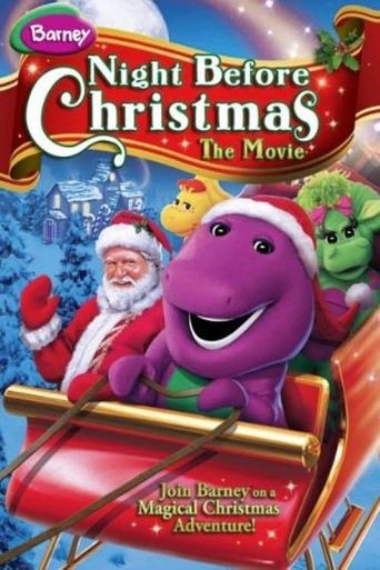 Barney's Night Before Christmas Poster