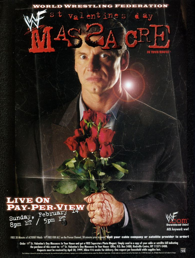 WWE St. Valentine's Day Massacre: In Your House Poster