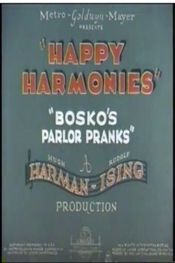 Bosko's Parlor Pranks Poster