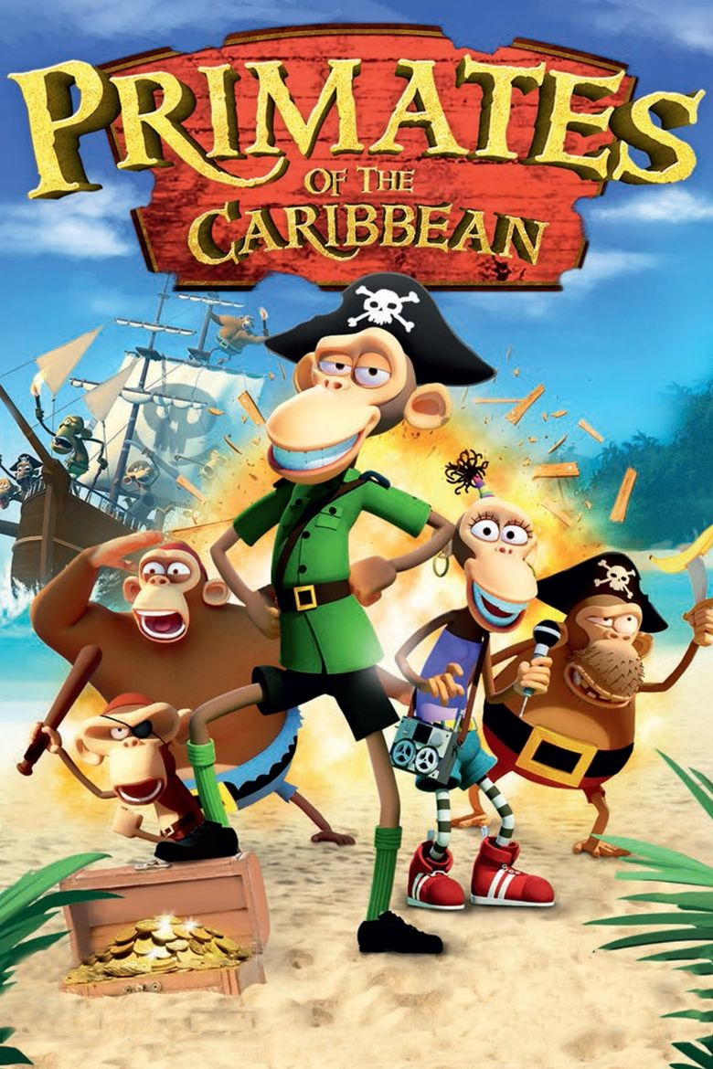 Primates of the Caribbean Poster