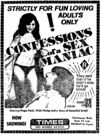 Confessions of a Sex Maniac Poster
