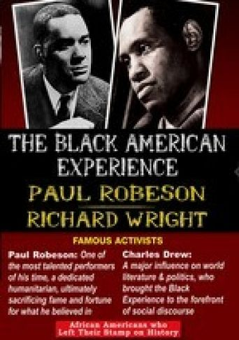 The Black American Experience: Famous Activists: Paul Robeson & Richard Wright Poster