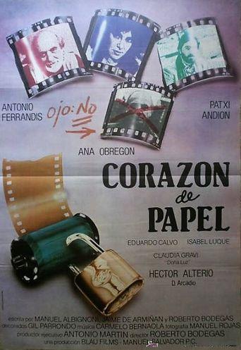 Corazón de papel Poster