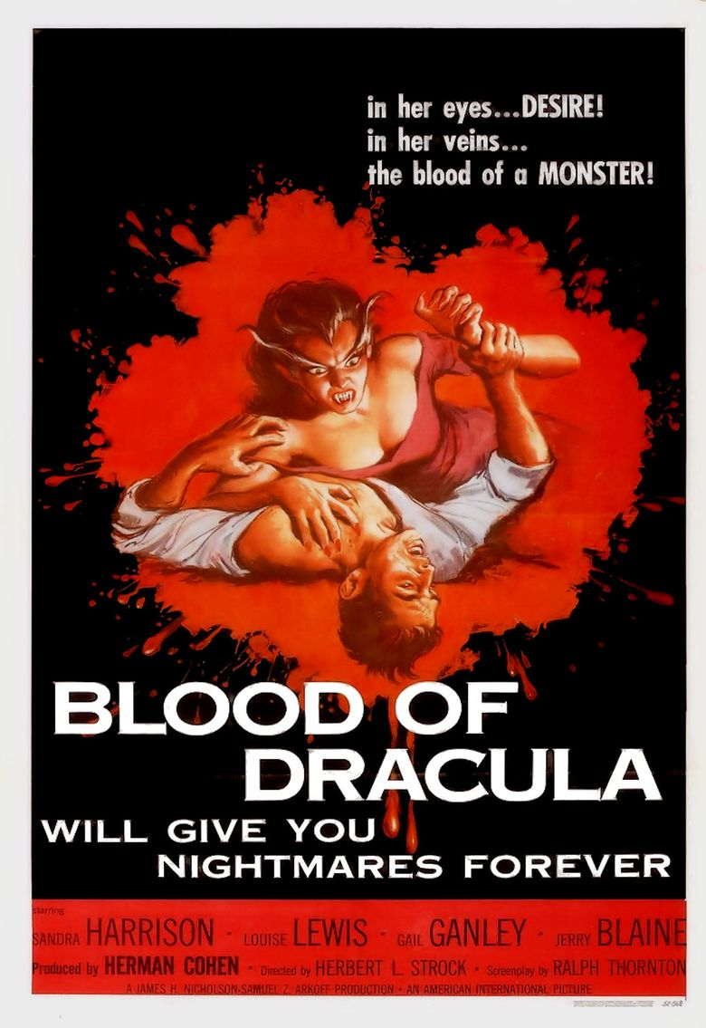 Blood of Dracula Poster