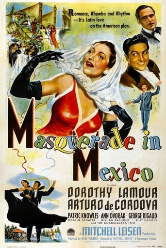 Masquerade in Mexico Poster