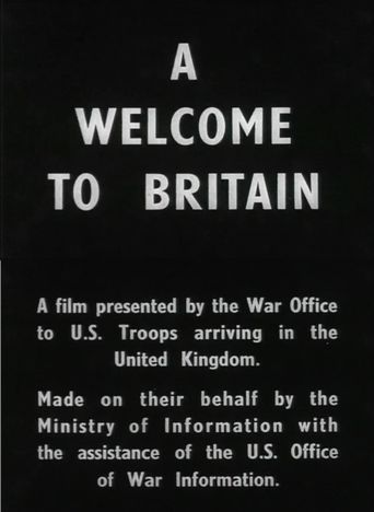 A Welcome to Britain Poster