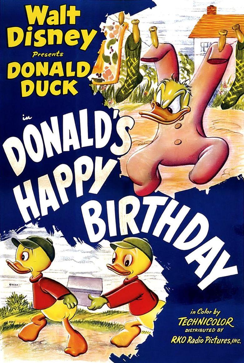 Donald's Happy Birthday Poster