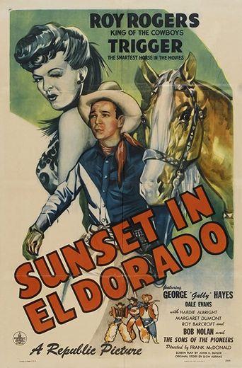 Sunset in El Dorado Poster
