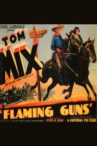 Flaming Guns Poster
