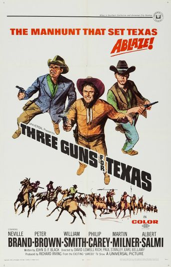 Three Guns for Texas Poster