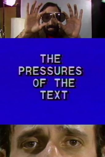 The Pressures of the Text Poster