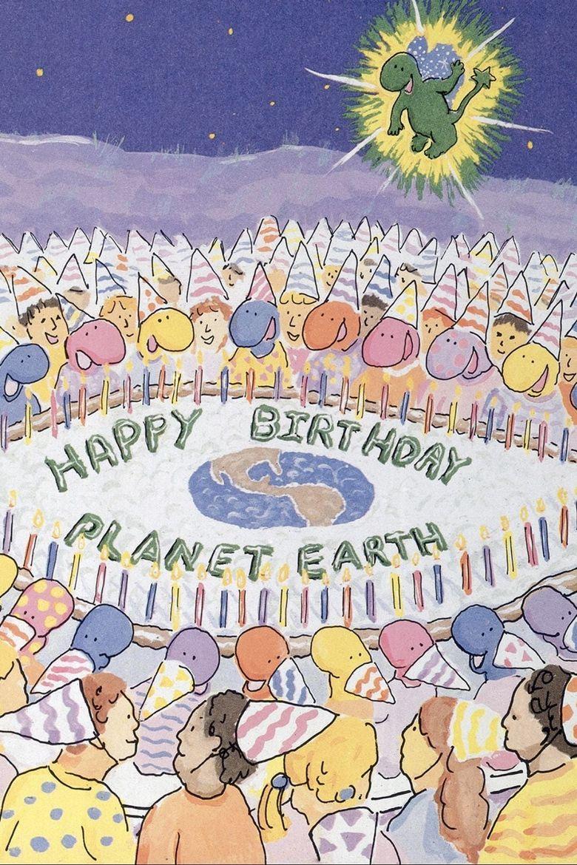 Earthday Birthday Poster