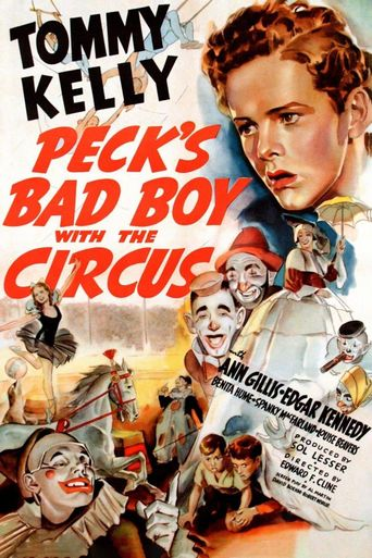 Peck's Bad Boy with the Circus Poster