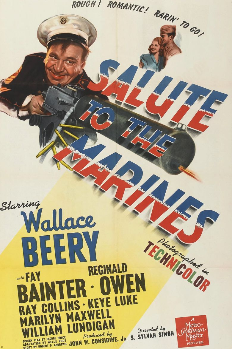 Salute to the Marines Poster