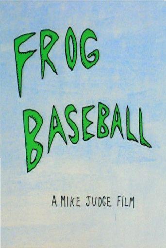 Frog Baseball Poster
