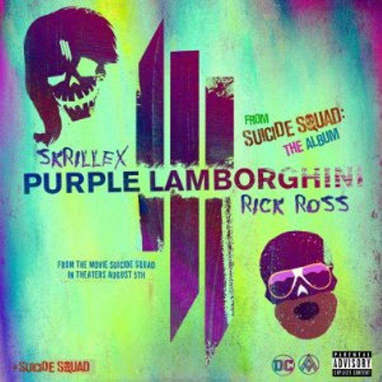 Purple Lamborghini Poster