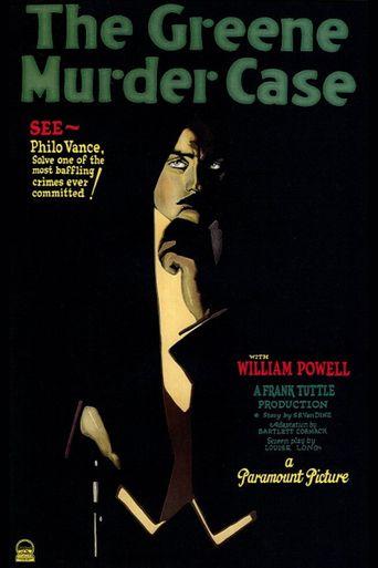 The Greene Murder Case Poster
