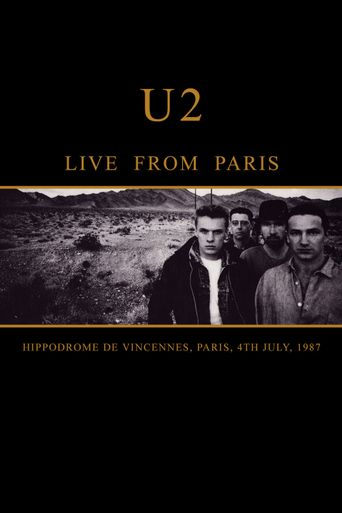 U2 Live from Paris Poster
