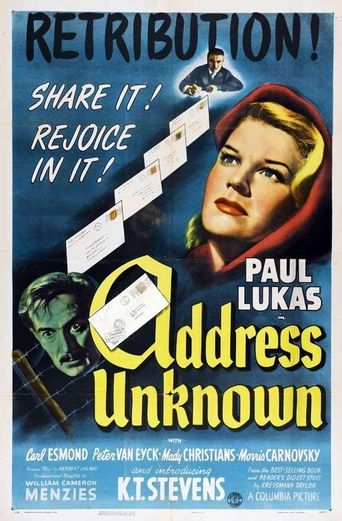 Address Unknown Poster