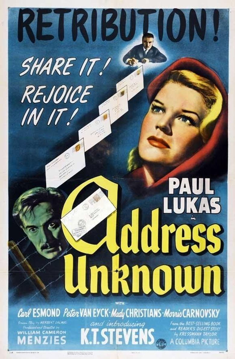Address Unknown Poster