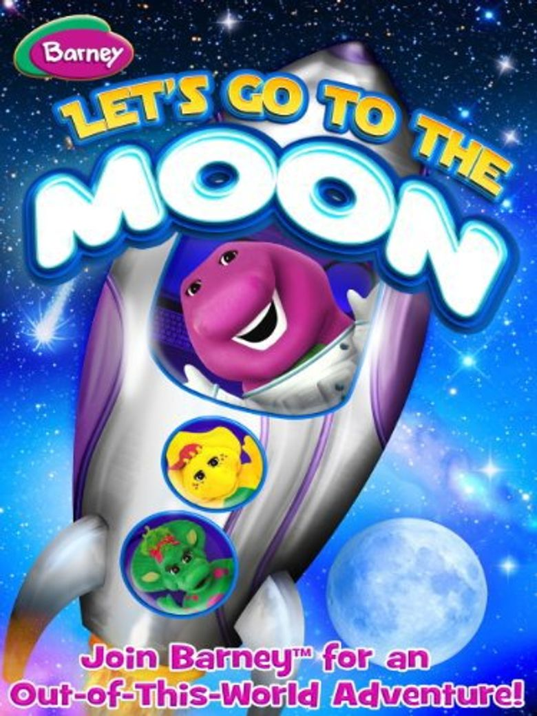 Barney: Let's Go To The Moon Poster