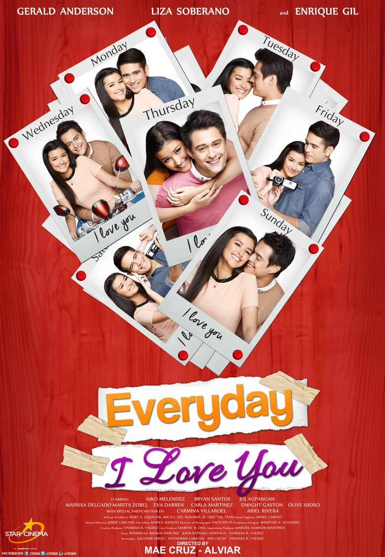 Everyday I Love You Poster