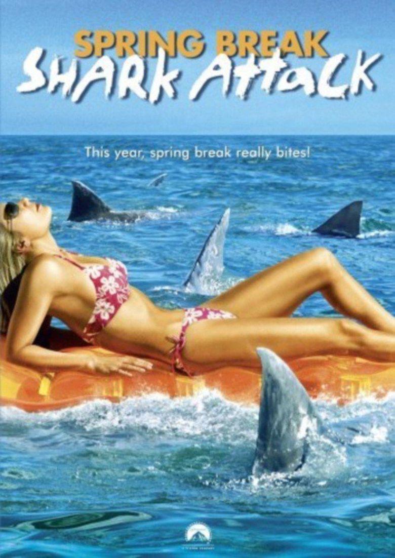 Spring Break Shark Attack Poster