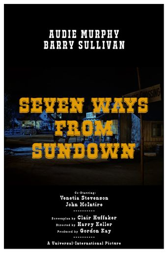 Seven Ways from Sundown Poster