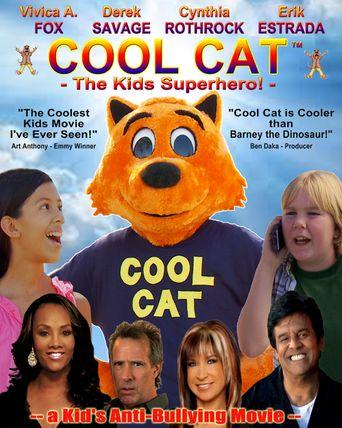 Cool Cat Kids Superhero Poster