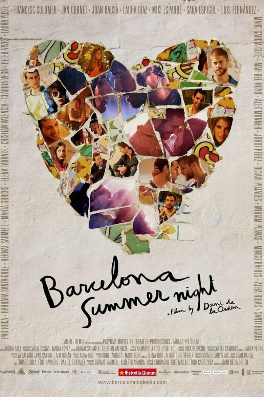 Barcelona Summer Night Poster