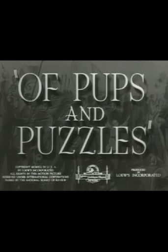 Of Pups and Puzzles Poster