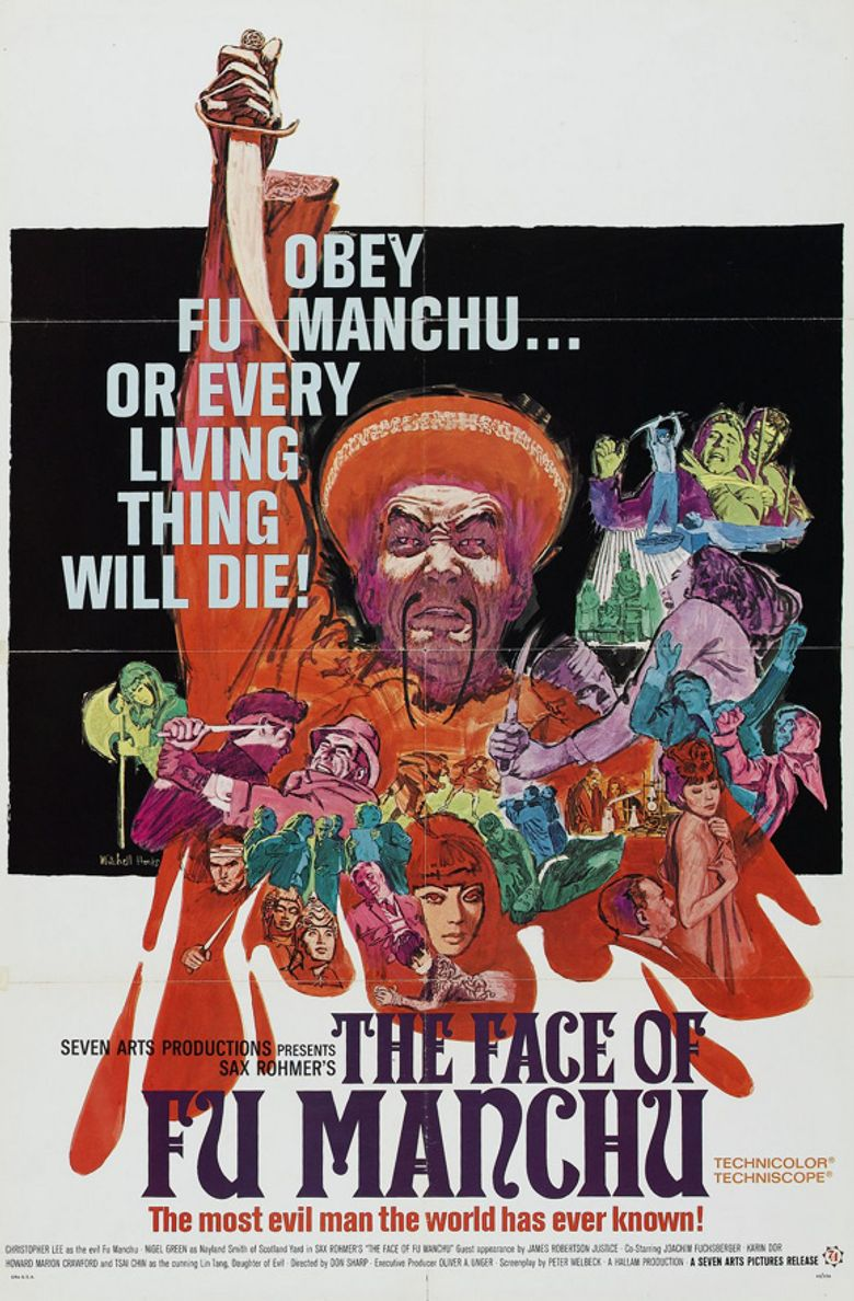 The Face of Fu Manchu Poster