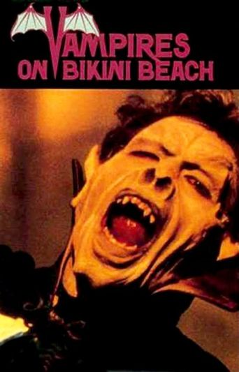 Vampire On Bikini Beach Poster