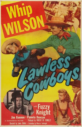 Lawless Cowboys Poster
