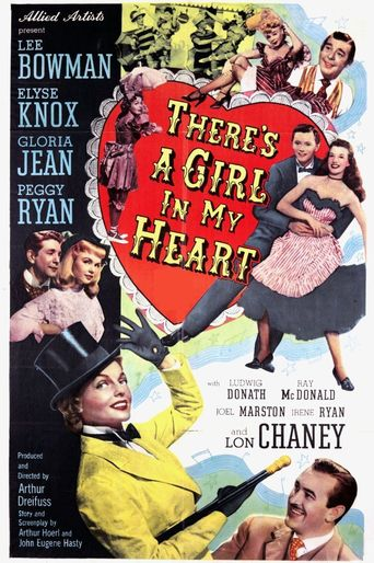 There's a Girl in My Heart Poster