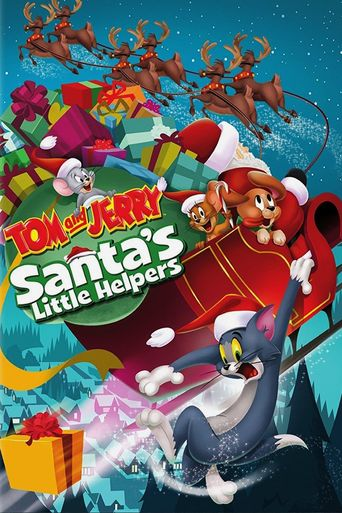 Tom and Jerry Santa's Little Helpers Poster